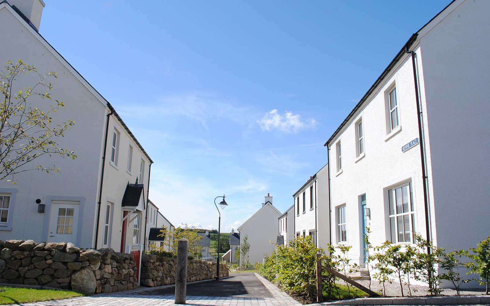 A network of paths weaves through the new settlement at Chapelton, Aberdeenshire.